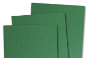 Blank Basis Green 5x7 Flat Card Invitations - 50 Pack