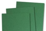 Blank Basis Green 5x7 Flat Card Invitations - 50 Pack