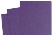 Blank Basis Dark Purple 5x7 Flat Card Invitations - 50 Pack