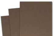 Blank Basis Brown 5x7 Flat Card Invitations - 50 Pack