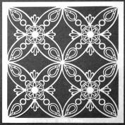 15cm x 15cm Ornamental Petals Stencil by Gwen Lafleur