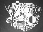 23cm x 30cm City Encompassed Stencil by Carol Wiebe