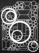 23cm x 30cm Doodle It Geometric Landscape Stencil by Maria McGuire