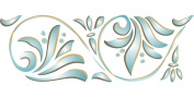 Art Nouveau 8 Border Stencil - (size 47cm w x 17cm h) Reusable Wall Stencils for Painting - Best Quality Wall Art Décor Ideas - Use on Walls, Floors, Fabrics, Glass, Wood, Terracotta, and More...