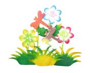RaanPahMuang Brand Thai Saa Paper Board Embellishment Flowers Style no. 5