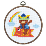 Orimupasu cross stitch embroidery kit Children's Day Children's Day fun fashionable hoop with off-white 7464