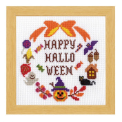 Orimupasu cross stitch embroidery kit Halloween Halloween lease 7471