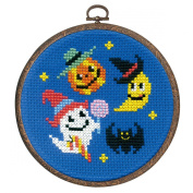 Orimupasu cross stitch embroidery kit Halloween Halloween party fashionable with hoop 7472