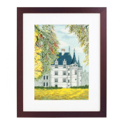 Orimupasu cross stitch embroidery kit World Heritage and Aze-le-Rideau off-white from the world of landscape 7209
