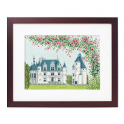 Orimupasu cross stitch embroidery kit World Heritage and Chenonceau off-white from the landscape of the world 7213