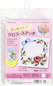 Orimupasu made ãN first cross stitch rose and ribbon 9035