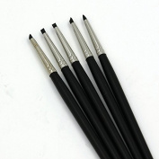 Raih Set of 5 Flexible Silicone Clay Sculpture Colour Shapers Tools Brushes Size 0 Black Tips