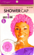 Large Purple Shower Cap, Could Also Be Used in Deep Hair Conditioning, Hair Protection, Full Size for Most Women, Men and Teens, Water-Proof Shower Cap with Comfortable Elastic Band