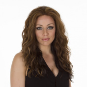 Biki | Long Brunette Glamorous Wavy Lace Front Wig | Multi Tonal Shade with Highlights