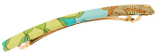 L. Erickson USA Long and Skinny Barrette - Bold Blooms Bright
