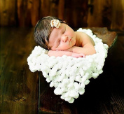 3 Bees Baby photography photo props polyester Basket Stuffer Background ball blanket rug TZ39