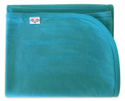 Baby Swaddle Blanket / Stroller Blanket by Antipodes Merino, large unisex size for newborns and toddlers,100% wool, Turquoise