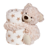 Blossoms & Buds Cuddly Bear 25cm Plush with Blanket Gift Set