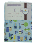 Big Oshi Fitted Crib Sheet - blue, one size