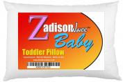 Toddler Pillow + FREE BEDTIME STORY EBOOK! - Best Small Pillows for Kids, Babies, or Children! Soft Hypoallergenic - Use For Bed or Travel - 13x18 - Machine Washable - Made in USA!