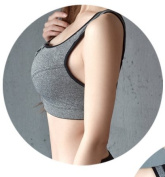 Asial bra only for young girl Save high-intensity professional sports text bra shockproof female underwear vest no rims running fitness yoga clothing