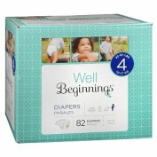 Well Beginnings Premium Box Nappies, size 4 - 82 ea