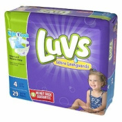 Luvs with Ultra Leakguards, Size 4 Nappies 29 each pack of 2