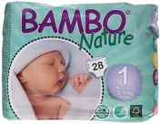 Bambo Nature Premium Baby Nappies, Newborn, 28 Count, Size 1 by Bambo Nature [parallel import goods]