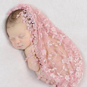 FUA® Newborn Photo Props *14 Colours to Choose From* Floral Lace Layers