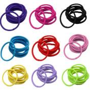100 Pcs Baby Kids Girl Elastic Hair Bands Ponytail Holder Head Rope Ties