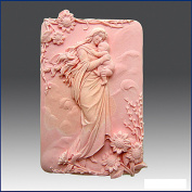 Mother in Heavenly Garden - Detail of High Relief Sculpture - Silicone Soap/polymer/clay/cold Porcelain Mould