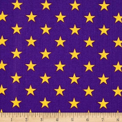 1/2 Yard - All Stars Yellow on Lavender Cotton Fabric (Great for Quilting, Sewing, Craft Projects, Quilt, Throw Pillows, Dog Bandana & More) 1/2 Yard X 110cm