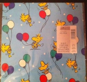 Hallmark Peanuts Snoopy Woodstock Pkg Gift Wrap - Balloons