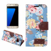 S7 Case, Galaxy S7 Wallet Case, SAVYOU Flower Buwen PU Leather Case Flip Cover with Card Slots & Stand Cover For Samsung Galaxy S7