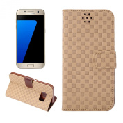 Galaxy S7 Case, SAVYOU - Galaxy S7 Phone Case,Voltage Small Squares Dual-Use Flip PU Leather Wallet Flip Case Stand Cover for Samsung Galaxy S7
