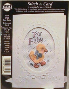 For Baby - Stitch a Card Counted Cross Stitch Kit - #3128