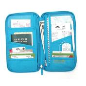LEORX Handy Travel Passport Holder Card Holder Zippered Wallet Handbag Organiser