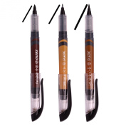 Xeno Calligraphy Brush Pen, Fude pen, Narrow Tip, Kanji China Japan (Fine,Medium,Bold Point)-Black Ink