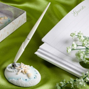 Beach Theme Ornate Pen Set, Wedding Favours & Accessories - by KateMelon