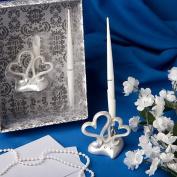 KateMelon Wedding Accessories Double Heart Pen Set, 11cm Tall