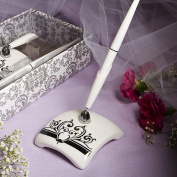 KateMelon Wedding Accessories Pen Set, Black Damask Pen