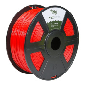 WYZworks PLA 1.75mm [ RED ] Premium Thermoplastic Polylactic Acid 3D Printer Filament - Dimensional Accuracy +/- 0.05mm 1kg / 2.2lb + [ Multiple Colour Options Available ]