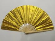 Plain Gold Bamboo Kung Fu Tai Chi Training Fan USA Seller