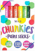 International Arrivals Chunkies Paint Sticks, Set of 12