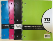 70 SHEET - Spiral Bound 1 NOTEBOOK WIDE RULED