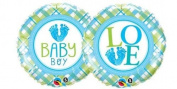 Baby Boy Love Feet Qualatex 46cm Foil Balloon