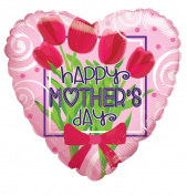 Happy Mother's Day 46cm Mylar Balloon Bulk