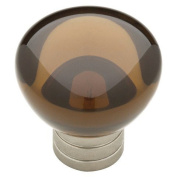 ThresholdTM 2.5cm - 0.3cm Ive Knob Vintage - Nickel/Translucent Smoke
