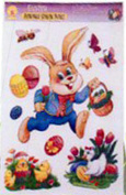 Easter Removable Window Decals Party Decoration Pkg/1