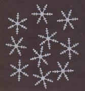 Silver Pearl Snowflake Die Cuts